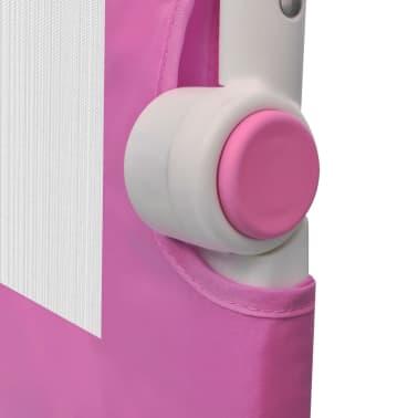 Säkerhetsgrind för småbarnssäng 150 x 42 cm rosa[5/5]