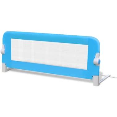 vidaXL Barandilla de seguridad cama de niño 102x42 cm azul[2/5]