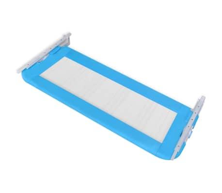 vidaXL Barandilla de seguridad cama de niño 102x42 cm azul[4/5]