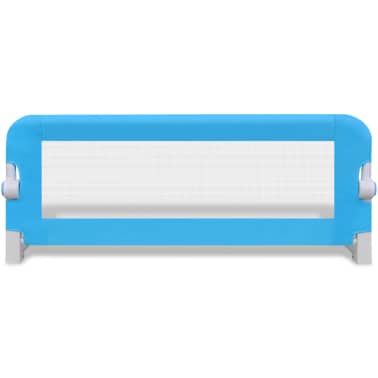 vidaXL Barandilla de seguridad cama de niño 102x42 cm azul[3/5]