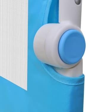 vidaXL Barandilla de seguridad cama de niño 102x42 cm azul[5/5]