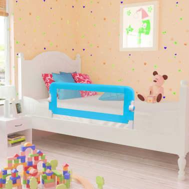 vidaXL Barandilla de seguridad cama de niño 102x42 cm azul[1/5]
