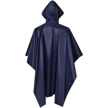 vidaXL Poncho para chuva impermeável campismo/caminhadas azul-marinho[2/4]