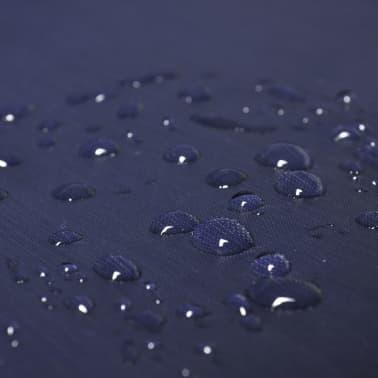 vidaXL Poncho para chuva impermeável campismo/caminhadas azul-marinho[3/4]