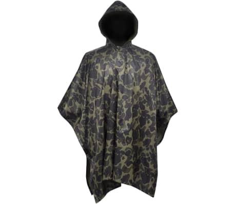 Regenponcho leger waterbestendig voor kamperen/wandelen camouflage[1/4]