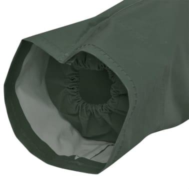 Lange regenjas waterbestendig zeer stevig met capuchon groen M[2/4]