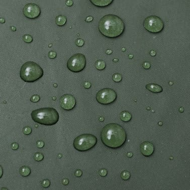 Lange regenjas waterbestendig zeer stevig met capuchon groen M[4/4]