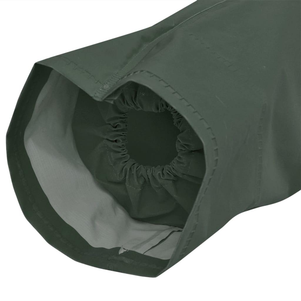 vidaXL Lange regenjas waterbestendig zeer stevig met capuchon groen XL