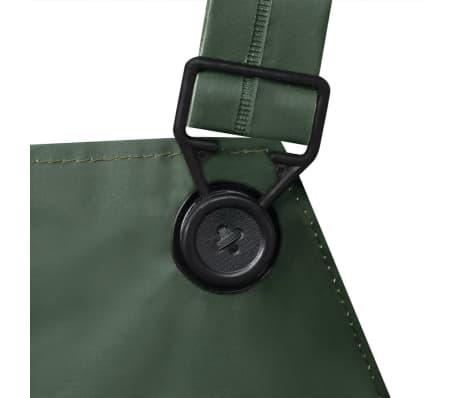 vidaXL Tweedelig regenpak waterbestendig met capuchon groen M[6/8]