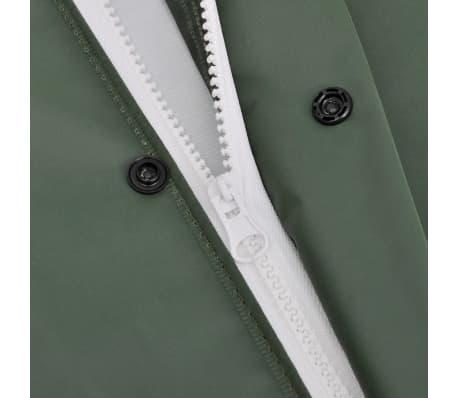 vidaXL Tweedelig regenpak waterbestendig met capuchon groen M[7/8]