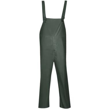 vidaXL Tweedelig regenpak waterbestendig met capuchon groen M[4/8]