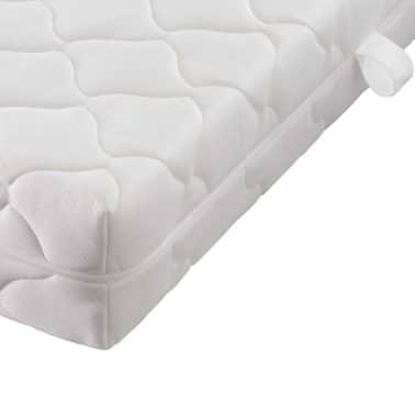 kunstleder bett mit kn pfen 140x200 wei matratze memory obermatratze g nstig kaufen. Black Bedroom Furniture Sets. Home Design Ideas