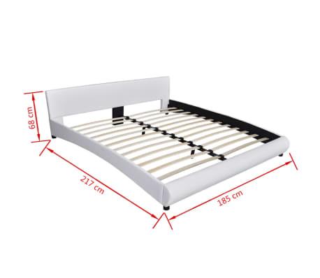 vidaxl bett mit led und matratze 180 200 cm kunstleder wei g nstig kaufen. Black Bedroom Furniture Sets. Home Design Ideas