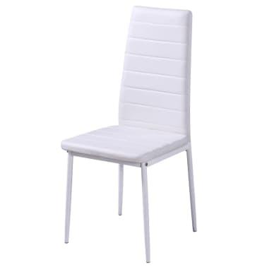 Sedie Bianche In Offerta.Set 4 Sedie Bianche Da Pranzo 1 Tavolo Con Design Contemporaneo