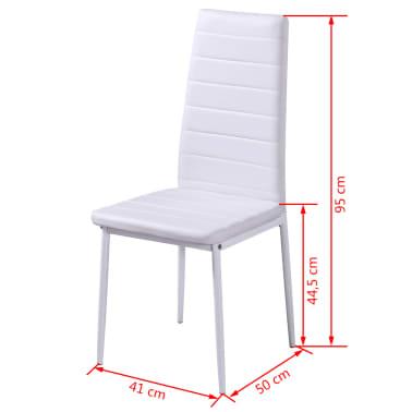 Witte Stoelen Design.Eethoek Met 4 Witte Stoelen 1 Tafel Modern Design Vidaxl Nl