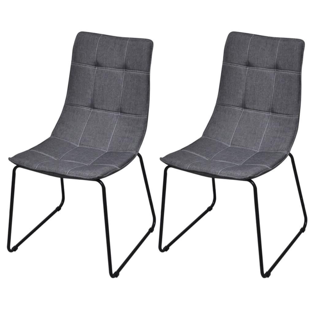 vidaXL Jídelní židle 2 ks s železnými nohami tmavě šedé