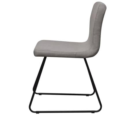2 hellgraue esszimmerst hle stoffbezug mit eisenbeinen g nstig kaufen. Black Bedroom Furniture Sets. Home Design Ideas