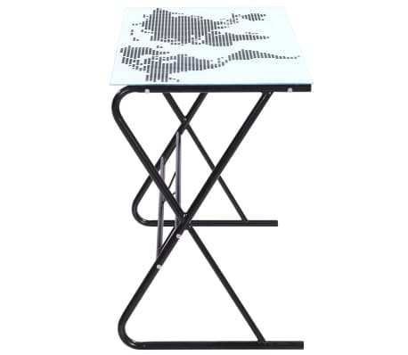 Computer desk world map modern stylish glass table home office study glass desk with world map pattern this high quality desk will make a perfect addition to your office study etc its understated design is contemporary gumiabroncs Gallery