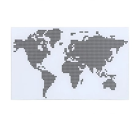 Glass Desk with World Map Pattern[4/6]