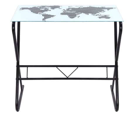 Glass Desk with World Map Pattern[5/6]