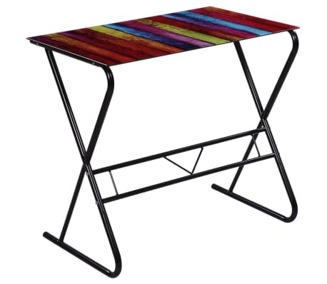 Glass Desk with Rainbow Pattern[2/6]