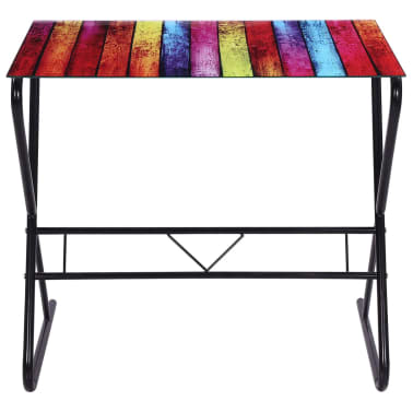 Glass Desk with Rainbow Pattern[5/6]