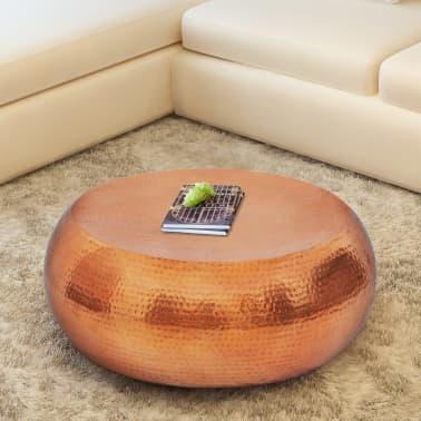 acheter vidaxl table basse en aluminium martel couleur laiton cuivre pas cher. Black Bedroom Furniture Sets. Home Design Ideas