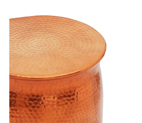 vidaXL Hammered Aluminium Stool/Side Table Brass/Copper Colour[3/4]