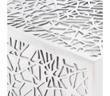 vidaXL Couchtisch Silbern Geometrisches Lochmuster Aluminium[4/5]