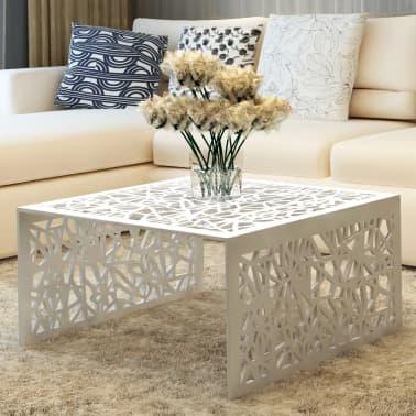 c56245c13314a3 Acheter vidaXL Table basse argentée Design géométrique Aluminium pas ...
