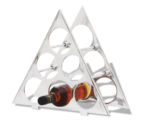vidaXL Wine Stand for 6 Bottles Silver Aluminum[1/5]