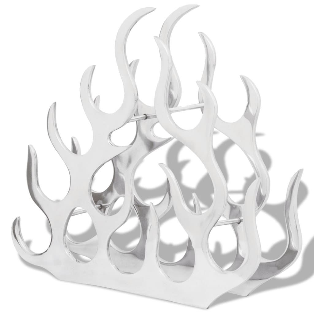 Afbeelding van vidaXL Wijnrek voor 11 flessen aluminium zilverkleurig