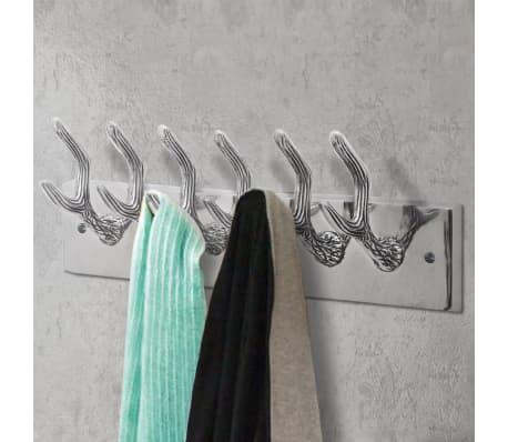 Aluminum Wardrobe Hook Coat Rack Hat/Tie Hanger Silver[2/5]