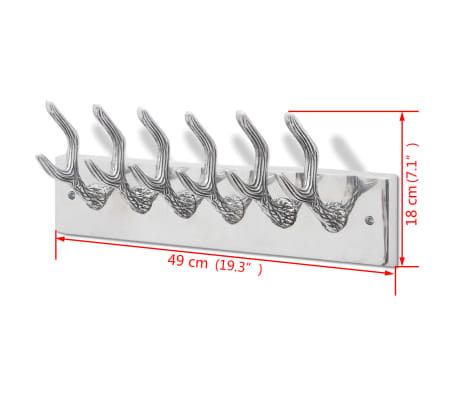 Aluminum Wardrobe Hook Coat Rack Hat/Tie Hanger Silver[5/5]