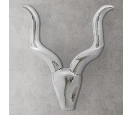 "Wall Mounted Aluminum Gazelle's Head Decoration Silver 19.7""[1/5]"