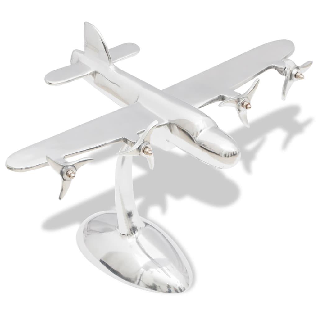 Hliníkový model letadla, dekorace na pracovní stůl