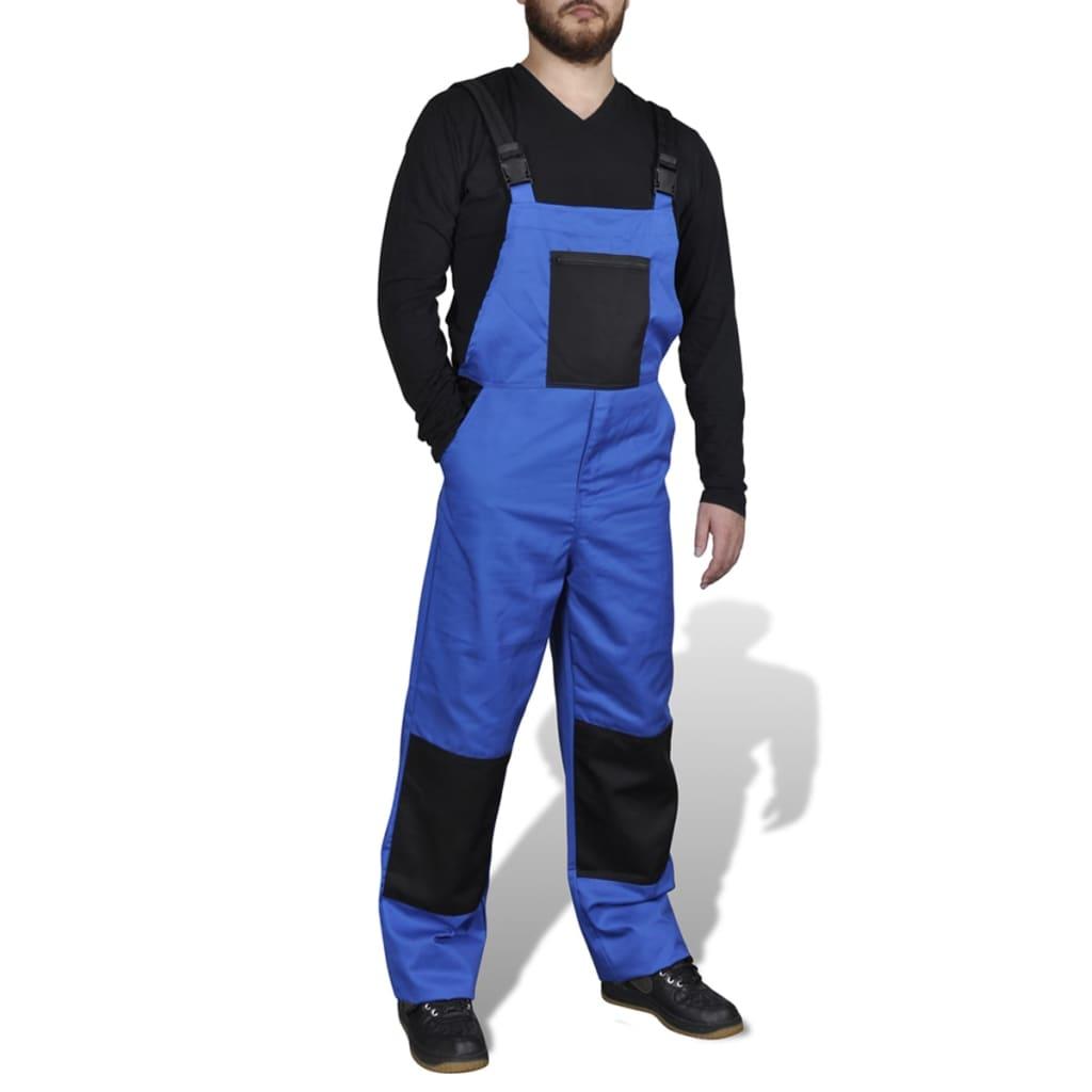 Pánské pracovní kalhoty / montérky s laclem, vel. L, modré