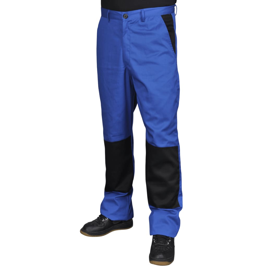 Pánské pracovní kalhoty, velikost L, modré