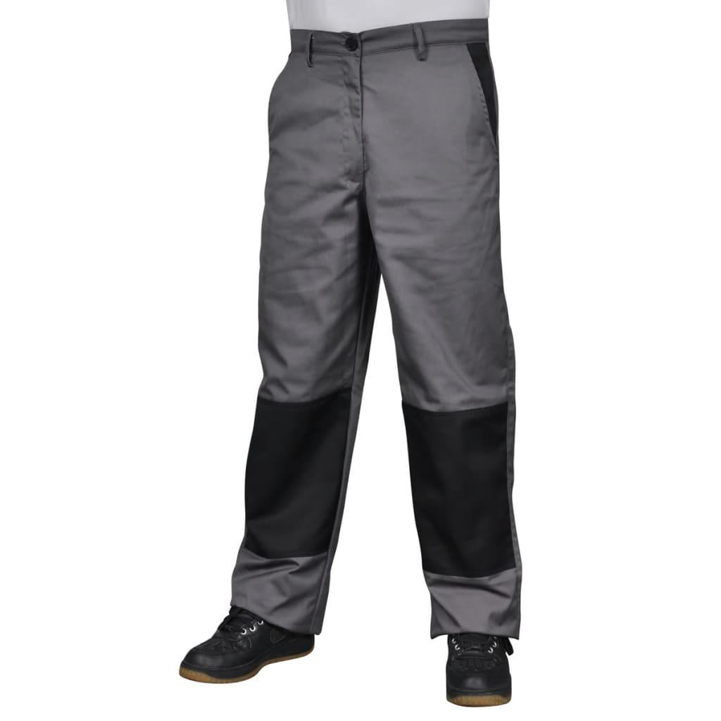 Pánské pracovní kalhoty, velikost M, šedé