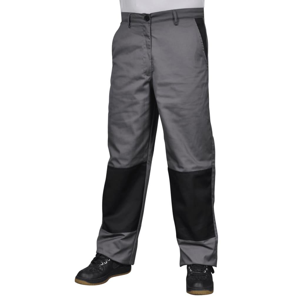 Pantaloni de lucru pentru bărbați, mărime L, gri vidaxl.ro