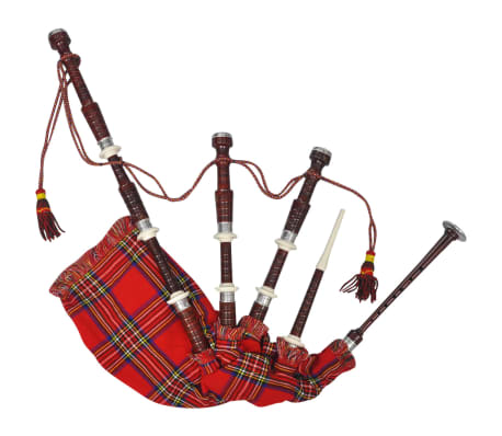 vidaXL Cornemuse écossaise Great Highland Tartan rouge Royal Steward