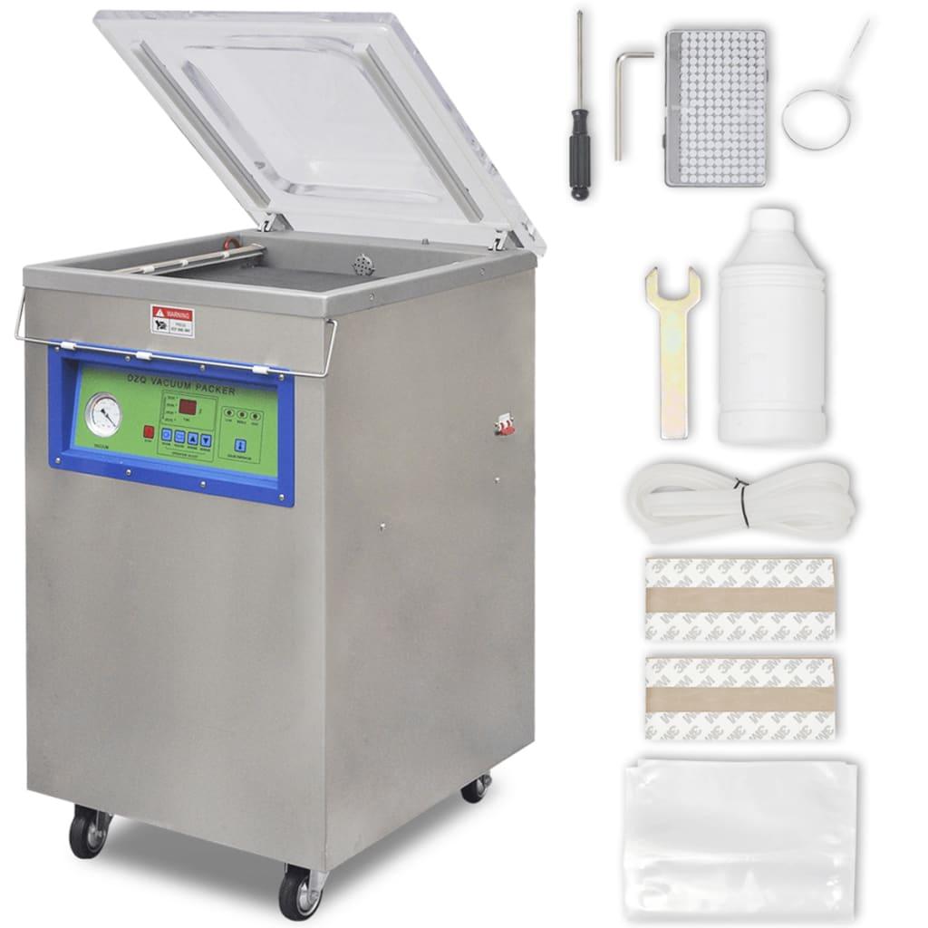 vidaXL Machine à emballer sous vide à aspiration / selleur en acier inoxydable 6