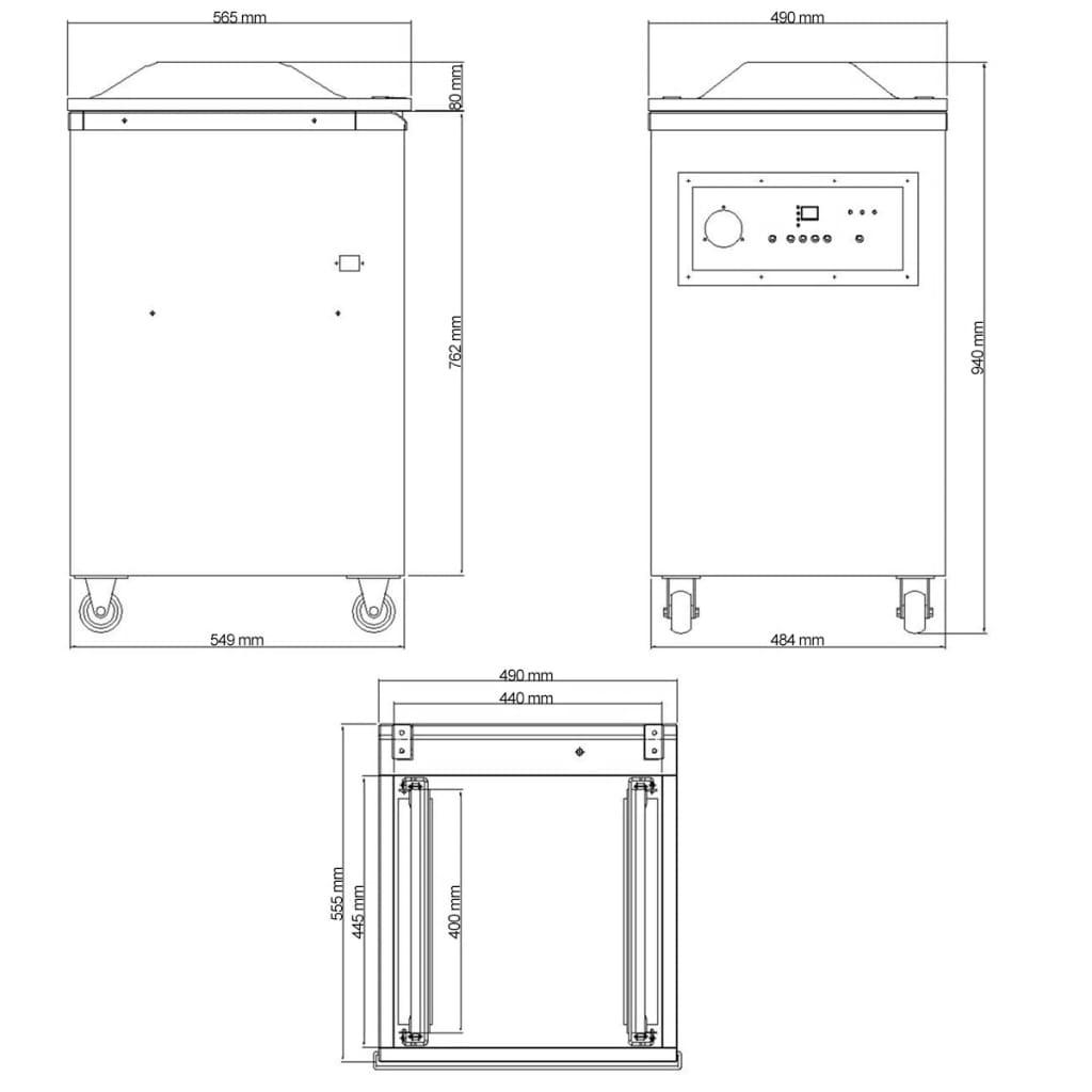 vidaXL Machine à emballer sous vide à aspiration / selleur en acier inoxydable 7