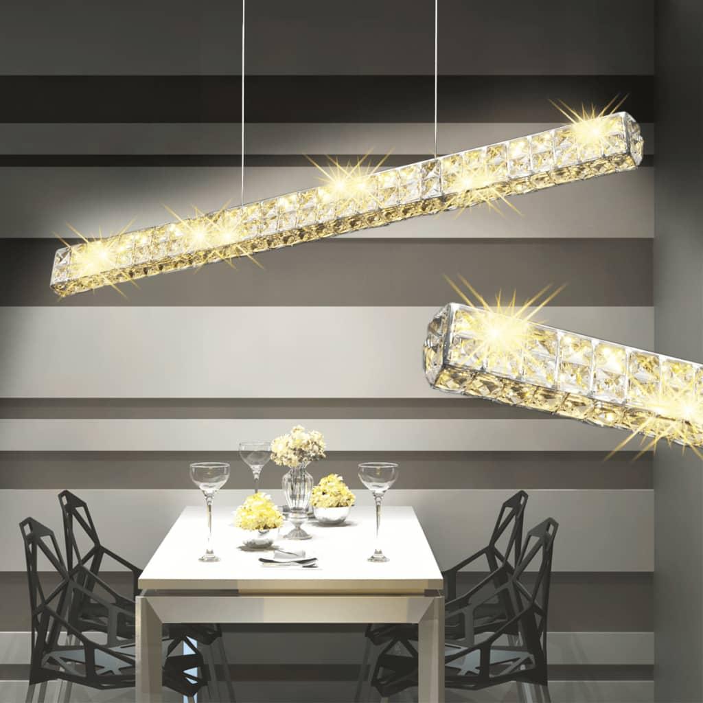 Lustră cu cristale și bandă LED lungă, 10 W poza 2021 vidaXL