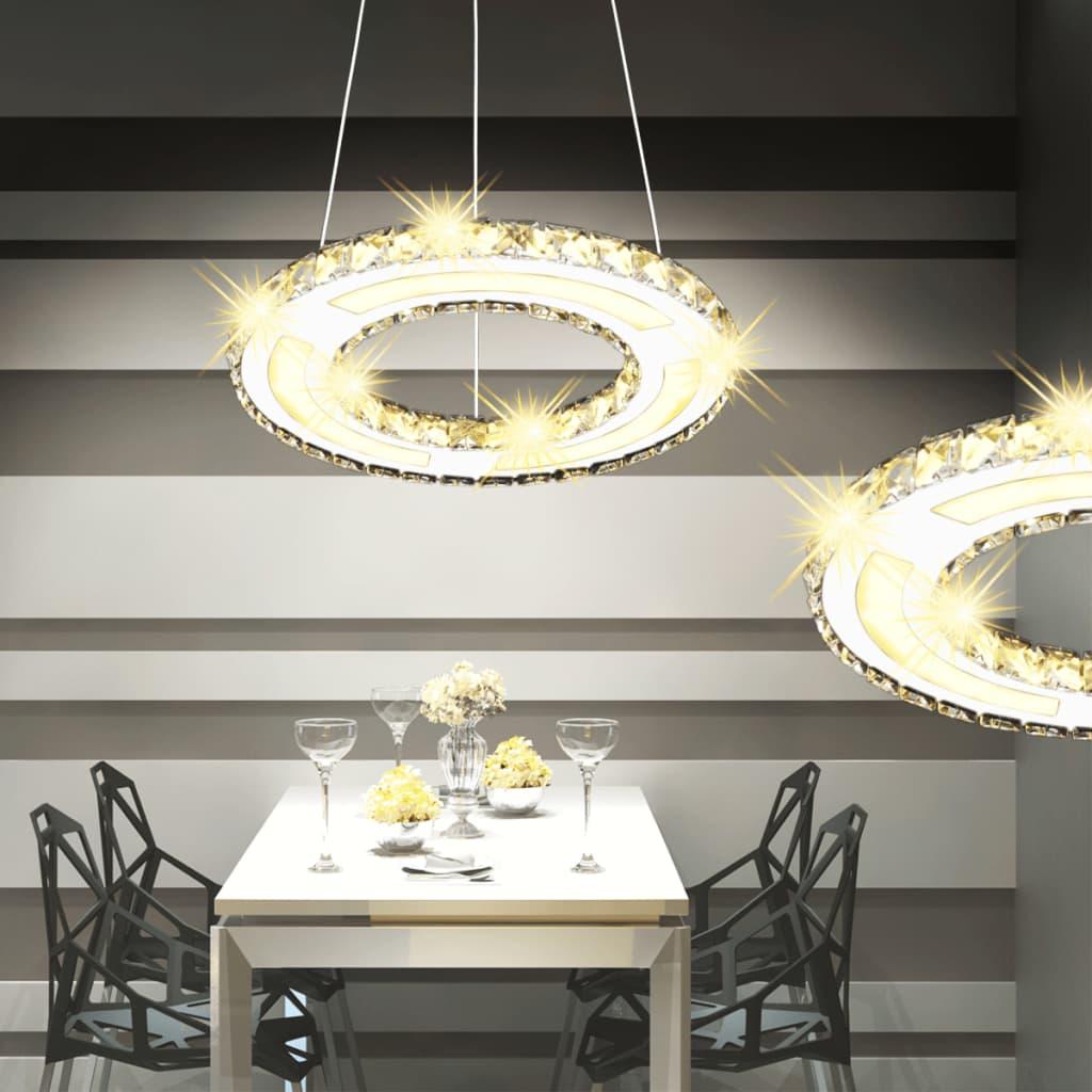 LED křišťálové závěsné svítidlo ve tvaru kruhu 13 W
