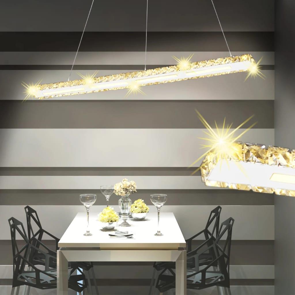 Dlouhý pruh LED křišťálové závěsné svítidlo 13 W