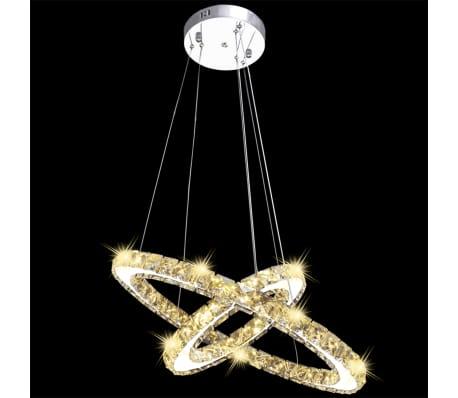 vidaXL Hanglamp kristal dubbele ring LED 23,6 W[3/9]