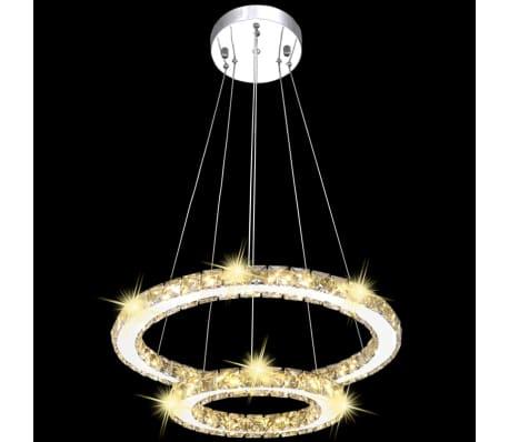 vidaXL Hanglamp kristal dubbele ring LED 23,6 W[4/9]