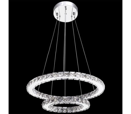vidaXL Hanglamp kristal dubbele ring LED 23,6 W[6/9]