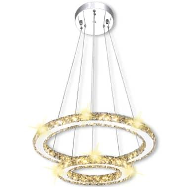 vidaXL Hanglamp kristal dubbele ring LED 23,6 W[7/9]